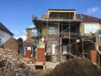 Rear extension walls being erected