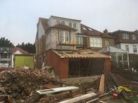 Garages being demolished