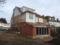 Almost complete externally. Side of site cleared for new build