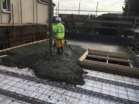 1st floor base concrete pour